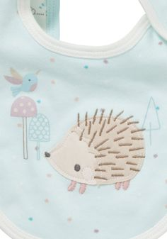 Clothing at Tesco | F&F 2 Pack of Little Hedgehog Bibs > accessories > Newborn > Baby