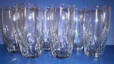 6 Anchor Hocking Clear Glass Starfire Central Park Water Tea Tumblers