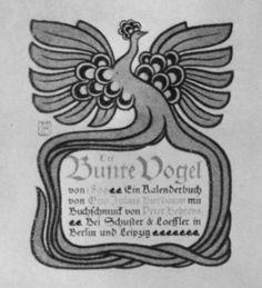 Figure 4 - Title page for Der Bunte Vogel. 1899