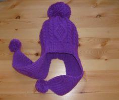 Knit - Baby Knitted Cap earflaps with pom pom - Ear Flap - Hat - Of Wool - For Girl - 5-7 years. https://www.etsy.com/ru/listing/217545075/vazanie-dla-detej-vazanaa-apoka-dla?ref=shop_home_active_1