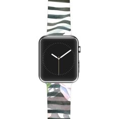 "S. Seema Z ""Peony n White Black"" Apple Watch Strap"