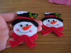 kardan adam keçe Christmas Makes, Christmas Crafts, Christmas Ornaments, Winter Wonderland, Snowman, Magnets, Activities, Cool Stuff, Holiday Decor
