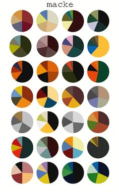Agatha O I Gauguin's colour palettes per painting as pie charts by Arthur Buxton Colour Pallete, Colour Schemes, Color Patterns, Color Mixing Chart, Wardrobe Color Guide, Color Palette Challenge, Color Harmony, Color Psychology, Color Studies