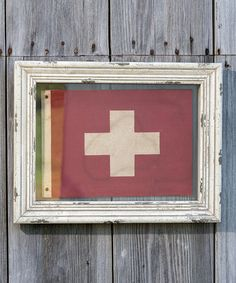 Look what I found on #zulily! White Framed First Aid Wall Sign #zulilyfinds