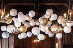 Metallic lanterns - Gold and silver paper lanterns