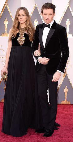 Academy Awards 2016: Arrivals. Hannah Bagshawe & Eddie Redmayne
