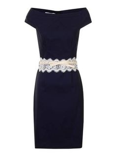 Paper Dolls Navy And Cream Dress - View All Dresses - Dresses