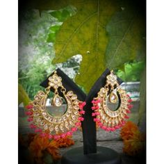 Online Shopping for neon kundan chand bali | Earrings | Unique Indian Products by suhana art n jewels - MSUHA38187052470