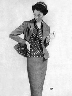 https://flic.kr/p/92iYGg | Dovima 1955 | Dovima modeling an Adele Simpson suit in Harper's Bazaar January 1955.  This image has been restored by me from an original by dovima_is_devine. Thanks Chris.
