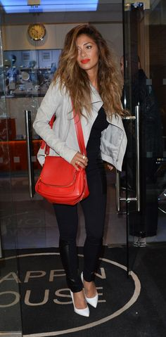 Nicole Scherzinger seen at the Kiss FM studios in London