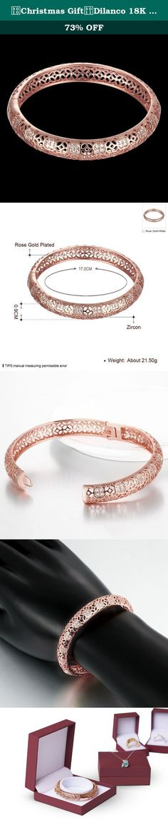 【Christmas Gift】Dilanco 18K Rose Gold Plated Multi-Gemstone Hollow Bangle Bracelets for Women. About us As a leader in the jewelry industry, Hanfeier have a professional and inspirational design team, a large number of novel styles of jewelry are designed out and exported to all over the world every year. We have our own factory, so we can provide our customers with lower price of jewelry and more satisfied after-sales service, but also enable to strictly control the quality of the…