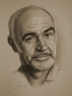 "Beautiful Celebrity Pencil Sketches - My Modern Metropolis Sean Connery still has ""IT"", whatever that is."