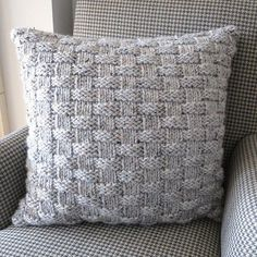 Basket Weave Pillow | AllFreeKnitting.com  http://www.allfreeknitting.com/Knit-Pillows/Basket-Weave-Pillow