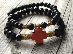 Bohemian bracelet Bracelet set Cross bracelet door KennlyDesign
