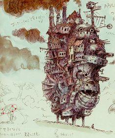 Miyazaki : Howl's Moving Castle : Howls Castle