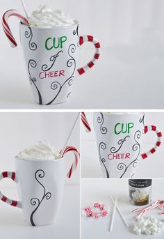 'Cup of Cheer' Personalized Mugs | DIY Holiday Gift Ideas for Men | DIY Christmas Gift Ideas for Boyfriend