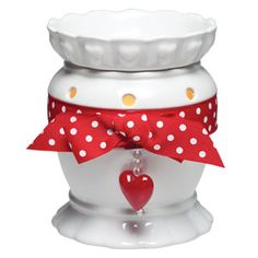 #Valentine Full-Size Scentsy Warmer PREMIUM #heart This regularly priced warmer at $35, is on sale for $14 only for a limited time! only through 7/6/15! www.wicklessleslie.com