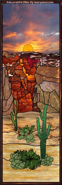 Arizona Sidelight Decorative Window Film