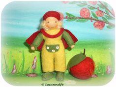 Apfel Bub Blumenkinder Jahreszeitentisch von Susannelfes Blumenkinder  auf DaWanda.com