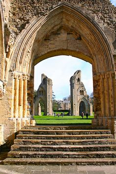 Glastonbury Abbey. If i were to ever actually marry...this place is high on the list of locations.