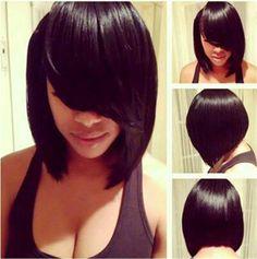 Новые Короткие Прямые Два Цвет Черный И Коричневый парик Синтетический Волос парики для чернокожих Женщин