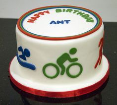 Triathlon cake idea. X