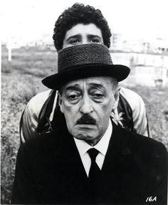 #Toto e Ninetto #Davoli - Pier Paolo #Pasolini, Uccellacci e uccellini 1965–66. Image Courtesy of The Museum of Modern Art.