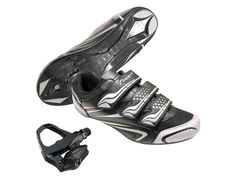 Road Bike Shoes and Pedals Combo