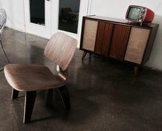 Amazon.com: LexMod Fathom Plywood Lounge Chair in Walnut: Kitchen & Dining