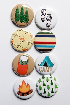 Camp 2 Flair by aflairforbuttons on Etsy, $6.00  #aflairforbuttons #flair #flairbuttons