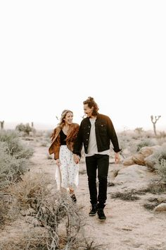 Joshua Tree Engagement The Ruin Venue Engagement Photo Outfits, Engagement Photo Inspiration, Engagement Couple, Engagement Pictures, Country Engagement, Fall Engagement, Engagement Session, Engagements, Husband And Wife Love