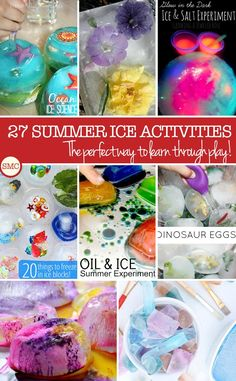 How cool are these ice activities? My toddlers are going to love playing with ice this summer!