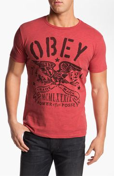 Obey 'Trademark Eagle' T-Shirt available at #Nordstrom