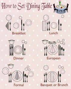 table setting guide - the hopeless housewife | best of pinterest