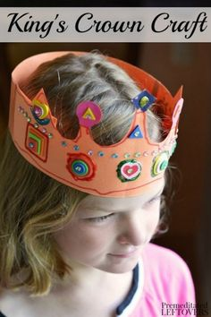 King's Crown Craft for kids - This fun DIY crown idea is a fun activity for kids for imaginative play. Can be queen, prince, or princess crown too. Fun supplement to studying history.