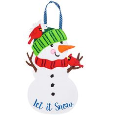 Evergreen Let it Snow Man Felt Door D¨¦cor out of 5 stars via 30 ratings See Buy Options in Home & Kitchen Felt Skull, Snowman Door, Evergreen Flags, Christmas String Lights, Christmas Decorations, Christmas Ornaments, Let It Snow, Felt Fabric, Hanging Ornaments