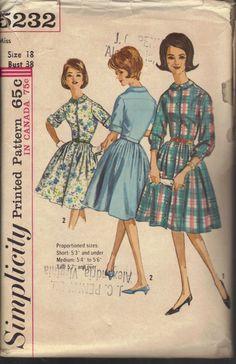 Vintage 1960's Women's Dress Pattern by AtomicRegeneration on Etsy, $5.95