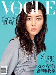 Liu Wen - Vogue Magazine Cover [Australia] (February 2014)