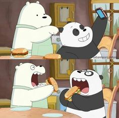 Jangan Lupa turn on notif post dan story for amazing pict and Videos ya guys 💓 We Bare Bears 🐻🐼❄