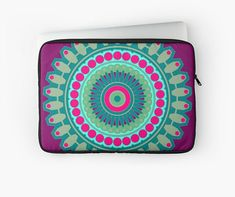 multicoloured mandala Laptop case / Ipad case Laptop Laptop Case, Ipad Case, Telephone, Mandala, Iphone, Etsy, Handmade Gifts, Unique Jewelry, Phones
