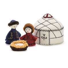 @WorldCrafts {Rejoice! Nativity Set ~ Master's Handicrafts ~  Kyrgyzstan} Celebrate the meaning of Christmas with this charming Nativity set, made of soft, durable fabric! Includes Mary, Joseph, and Baby Jesus in a manger. Made by women in Kyrgyzstan, they utilize their skills to create beautiful pieces of art, while receiving an income in order to help support their families. Each item is made by hand from start to finish. #fairtrade