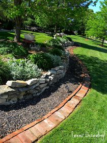 Use in front of rocks for easier cutting?  Forever Decorating!: Brick Border
