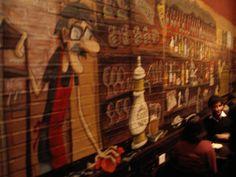 """La Barra"" mural realizado en bar ""El Escandinavo"" de Alvarez Thomas y Forest Painting, Scandinavian, Barbell, Hipster Stuff, Painting Art, Paintings, Painted Canvas, Drawings"