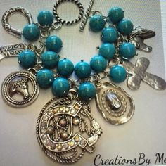 Western charm bracelet Sale make for me 7 1/2 inch length  to much for me created by juanabhas on posh Jewelry Bracelets