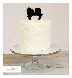 Custom Silhouette Wedding Cake Topper