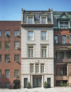 The French-neoclassical façade of adman Donny Deutsch's Manhattan townhouse.