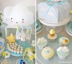 Charming Clouds And Ice Cream Party decorations, Charming Clouds And Ice Cream Party ideas, Charming Clouds And Ice Cream Party theme, invitations Baptism Themes, Baptism Party Decorations, Raindrop Baby Shower, Baby Shower Niño, Christening Cake Boy, Baby Girl Baptism, Art Festa, Cloud Party, Ice Cream Party