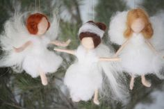 Excited to share the latest addition to my #etsy shop: Needle Felted Dancing Angel Christmas Tree Ornament/Waldorf Inspired Gifts/Stocking Stuffers/Gifts for Dancers