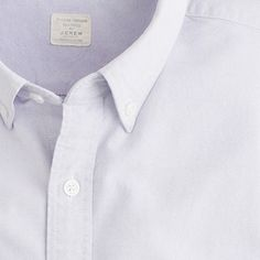 Sun-faded solid oxford shirt. J. Crew