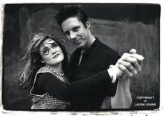 "Exene Cervenka and John Doe. In 1977 the band ""X"" was founded by"